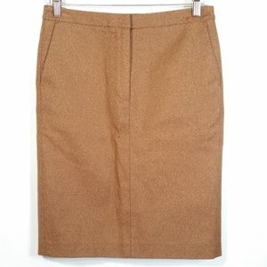 Max Mara Copper Brown Straight Skirt Made Italy